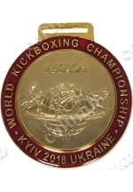 "Медаль на ленте  ""WORLD KICKBOXING CHAMPIONSHIP"" Киев 2018 (код 48268)"